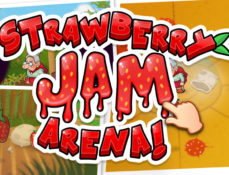 "Logo/Game Titel ""Strawberry Jam Arena"" Animation-Trailer Teaser Grafik"