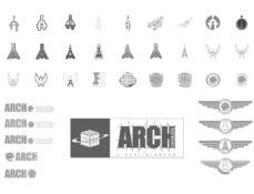Grafik Design - Logo Entwürfe ARCHonauts Berlin