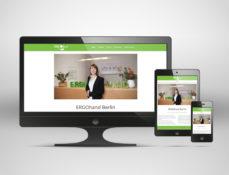 Responsives Webdesign, Screenshot der Website ergohand-berlin.de
