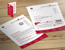 Grafik Design - Geschäftsbrief und Bonuskarte DTS Berlin